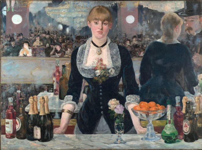 Edourd Manet , El bar del Folies-Bergère. Óleo sobre lienzo, 1880.
